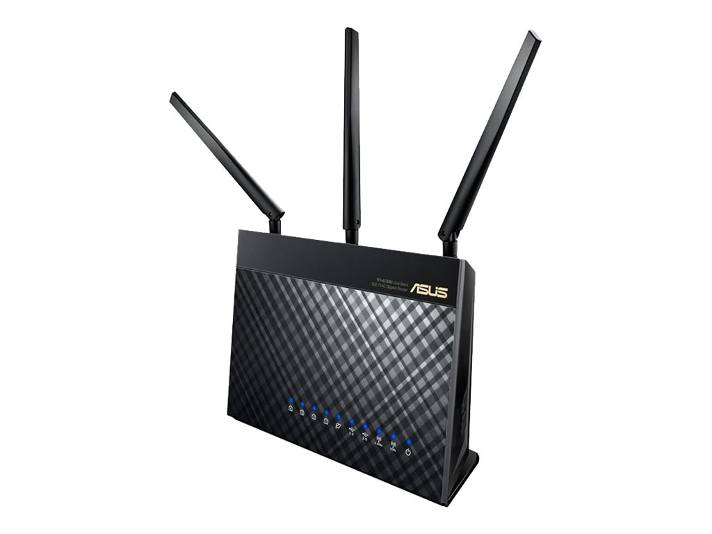 Asus 802.11ac Dual-Band Wireless AC1900 Gigabit Router, RT-AC68U, 16306400, Wireless Routers