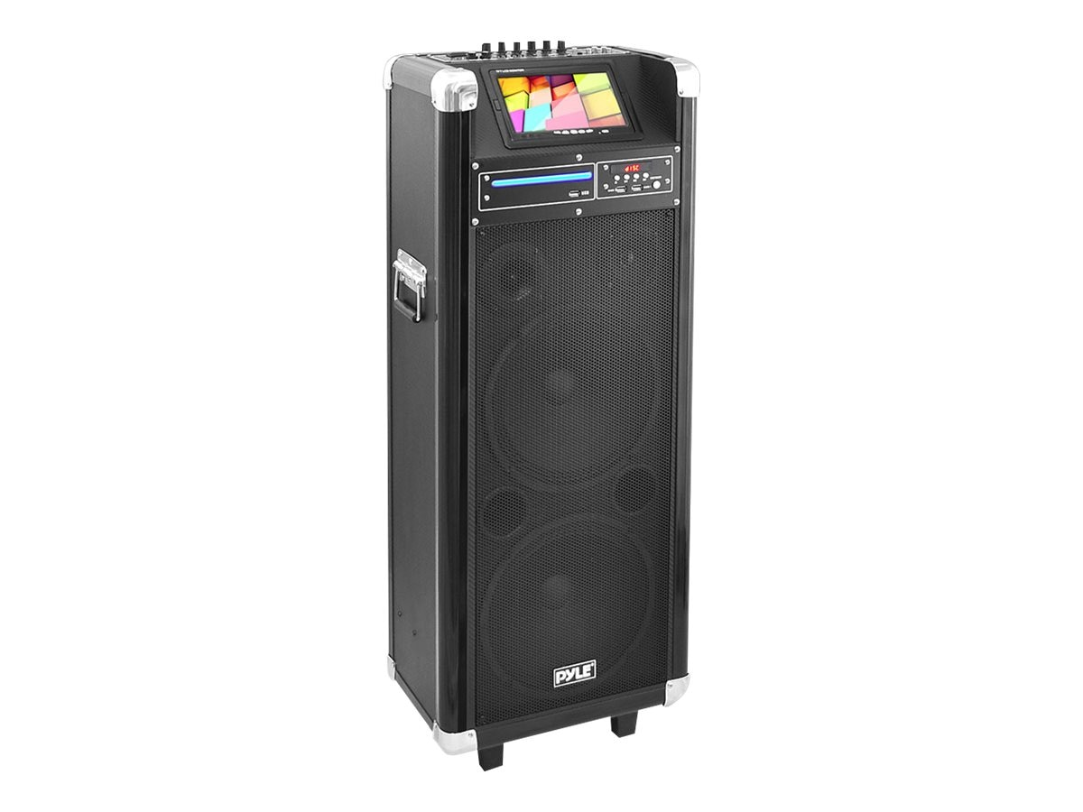 Pyle 1000W BT Karaoke Vibe PA System w  10 Woofer & 7 Screen