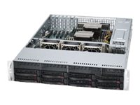 Supermicro SuperServer 6027AX 2U RM Xeon E5-2600 Family Max.512GB DDR3 10x3.5 HS Bays 3xPCIe GNIC 1280W RPS