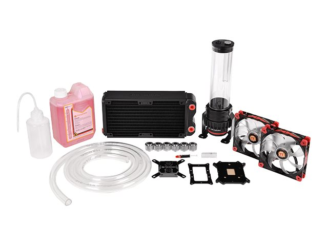 Thermaltake Pacific RL240 Water Cooling Kit with W1 CPU Water Block, CL-W063-CA00BL-A, 23203089, Cooling Systems/Fans