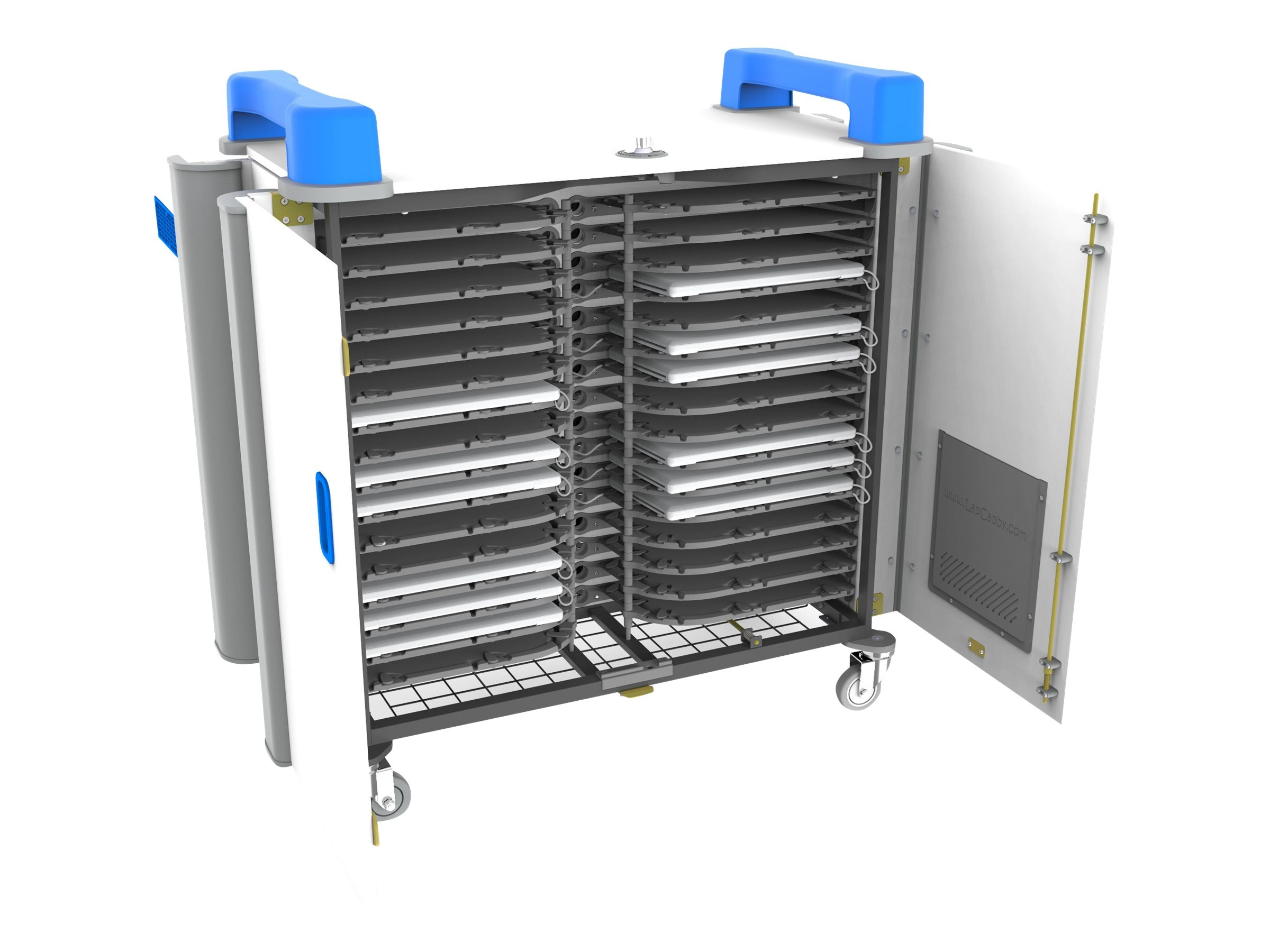 LapCabby 32H 32-Unit Universal Device Cart, Blue