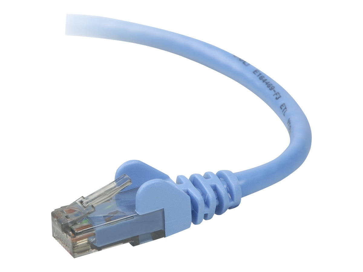 Belkin Cat6 UTP Patch Cable, Blue, Snagless, 7ft, Bag and Label, A3L980B07-BLU-S, 7080023, Cables