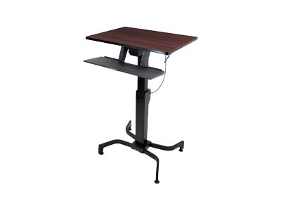 Ergotron WorkFit-PD, Sit-Stand Desk (walnut), 24-280-927
