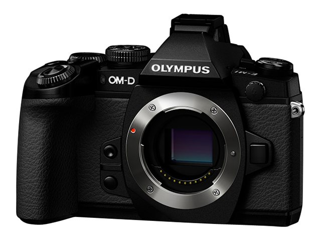Olympus Olympus OM-D E-M1 Mirrorless Micro Four Thirds Digital Camera (Body Only), V207010BU000, 16282743, Cameras - Digital - SLR