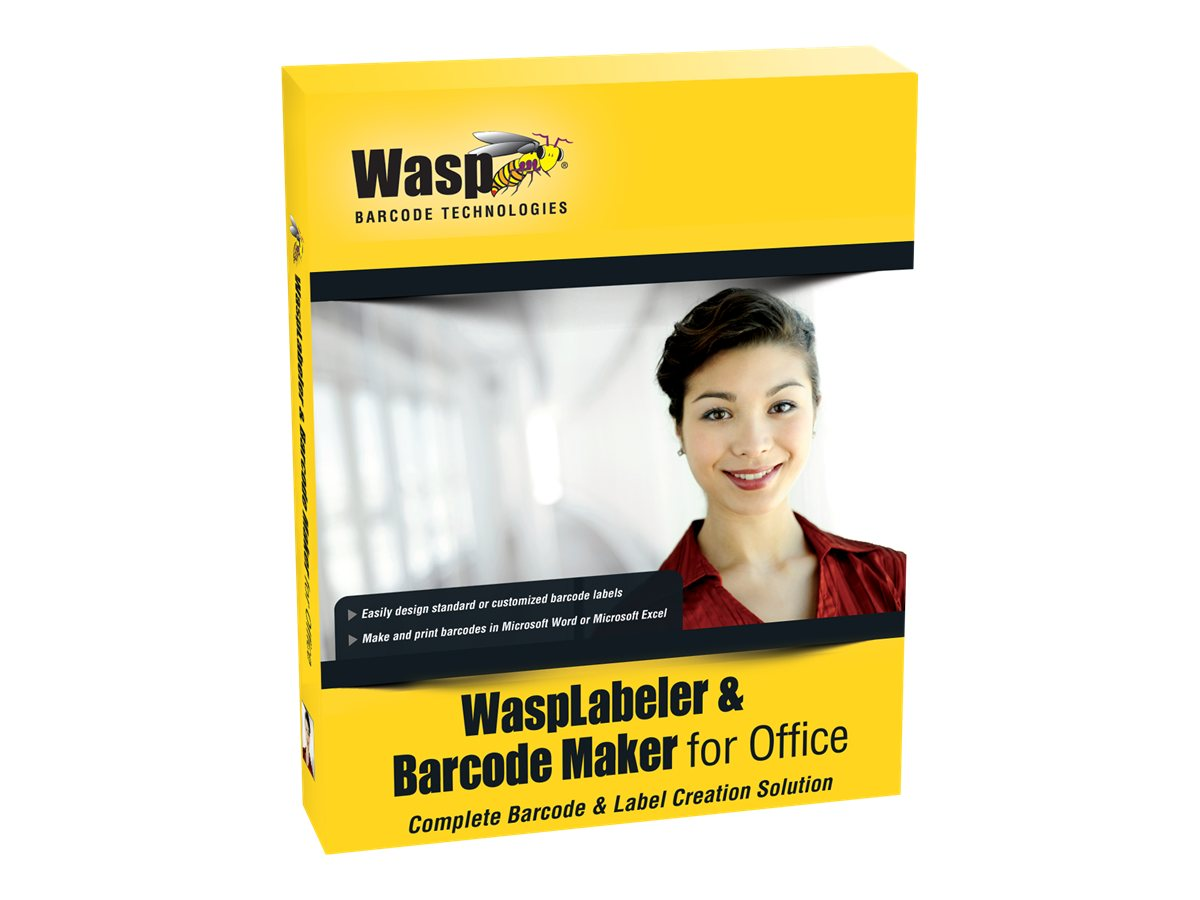 Wasp Labeler & Barcode Maker for Office 10 User License, 633808105372, 13827613, Software - POS & Bar Coding