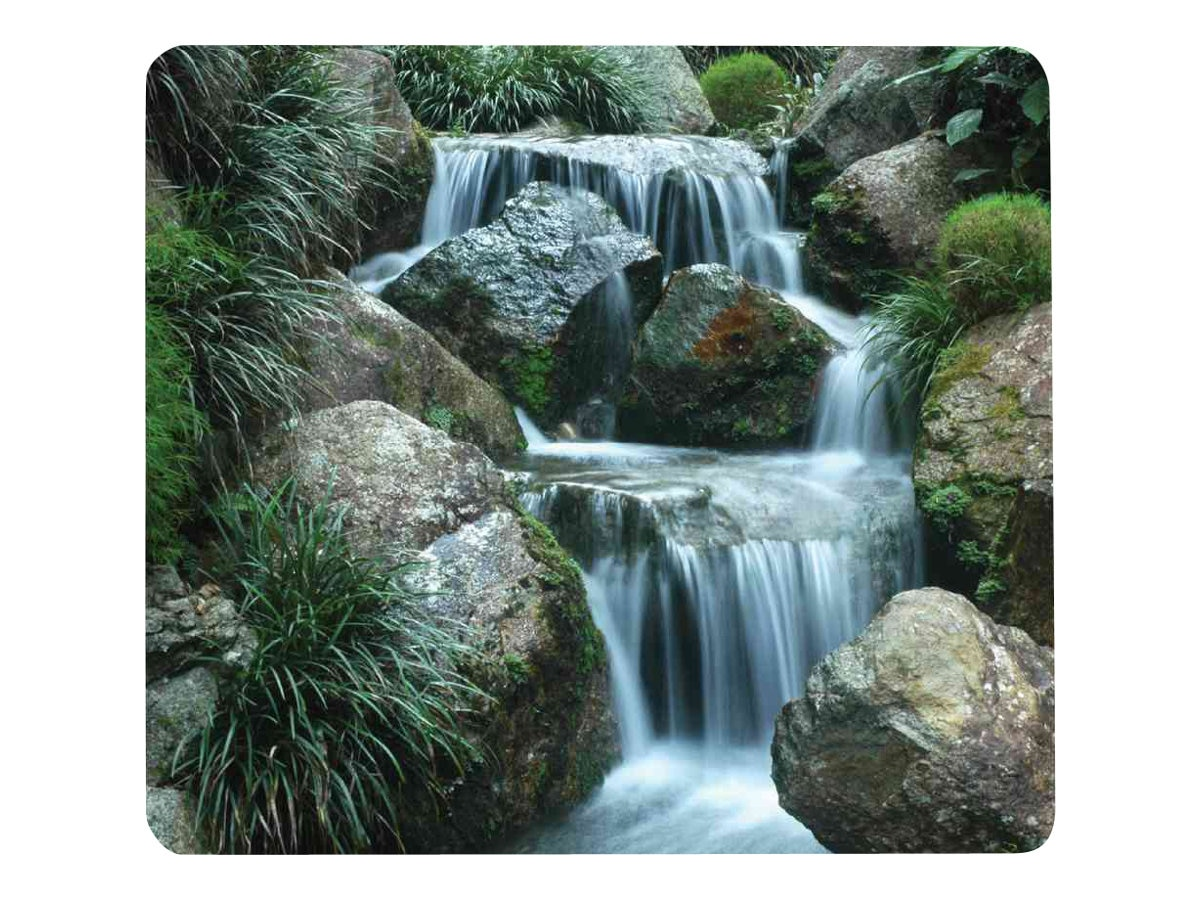 Fellowes Recycled Optical Mouse Pad, Non-Skid, Waterfall, 5909701, 15269731, Ergonomic Products