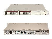Supermicro Chassis, 1U SC811F SATA, 260W PSU, Beige, CSE-811FT-260, 8995891, Cases - Systems/Servers