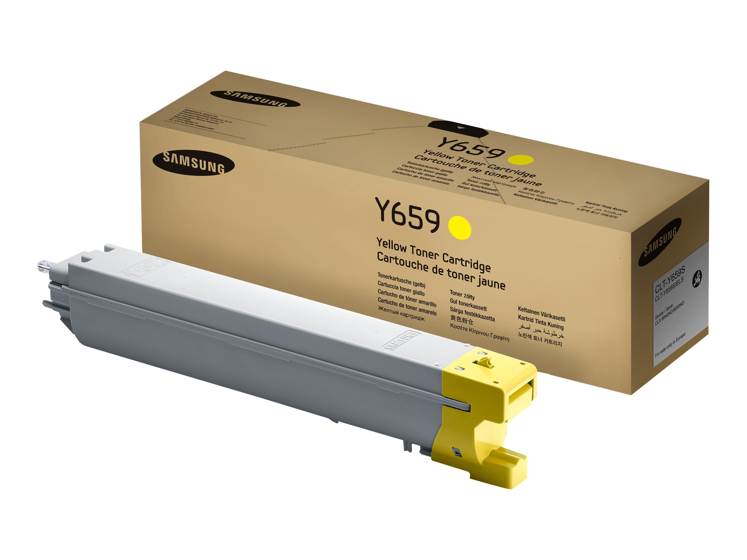 Samsung Yellow Toner Cartridge for CLX-8640ND & CLX-8650ND Color Multifunction Laser Printers, CLT-Y659S