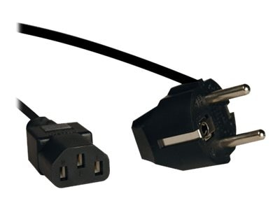 Tripp Lite Power Cord IEC-320-C13 to SCHUKO CEE 7 7, 250V 10A, 8ft, P054-008, 15272439, Power Cords