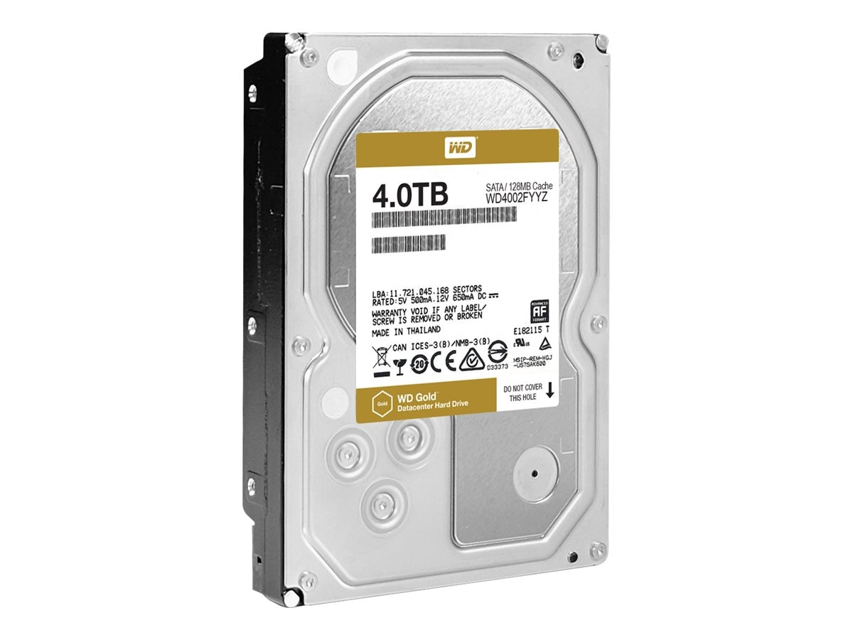 WD 4TB WD Re SATA 6Gb s 512 Native 3.5 Internal Hard Drive - 128MB Cache, WD4002FYYZ