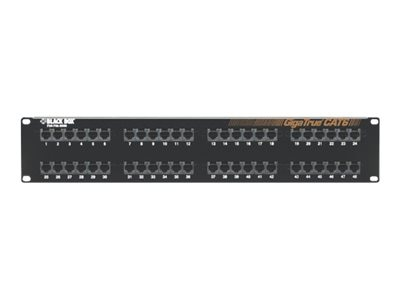Black Box 48-Port 2U GigaTrue CAT6 Patch Panel