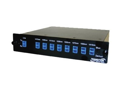 Transition CWDM Multiplexer 9-Channel 1470-1610+1310nm, CWDM-M947LCR, 8704723, Multiplexers