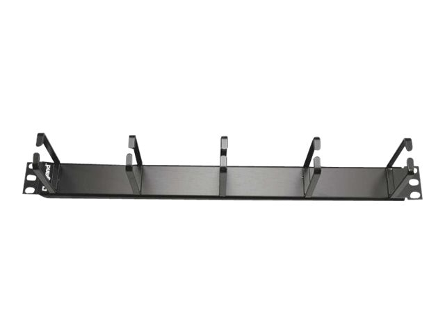 C2G 1U Horizontal Cable Management Panel with (5) D-Rings, 14593, 30920692, Rack Cable Management