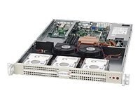 Supermicro 1U UIO Chassis, 280W PSU, Black, CSE-812L-280UB, 11225619, Cases - Systems/Servers
