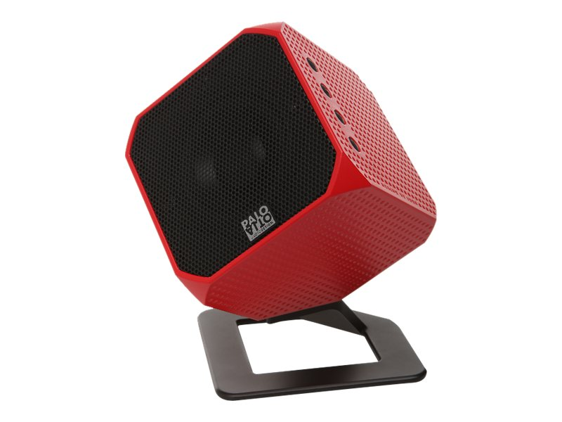 Palo Alto Audio Cubik HD USB Speaker - Red