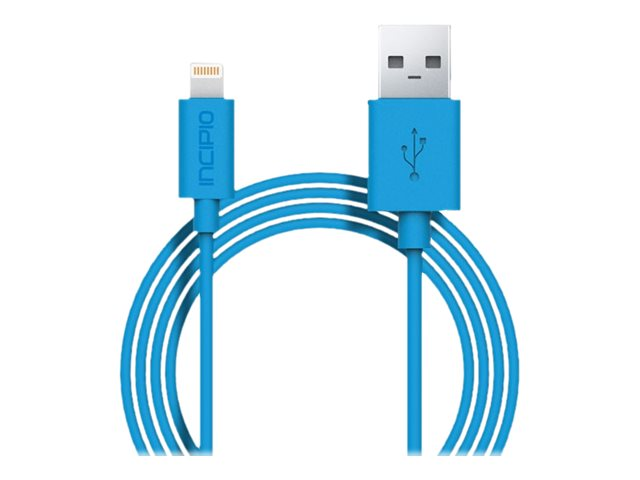 Incipio Lightning to USB Type A M M Charge Sync Cable, Cyan, 1m