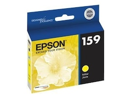 Epson Yellow 159 Ultrachrome Hi-Gloss 2 Ink Cartridge, T159420, 12838839, Ink Cartridges & Ink Refill Kits