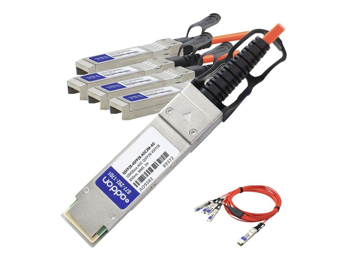 ACP-EP QSFP28 TO 4XSFP28 3M Compatible DAC TAA 100GBASE AOC 3M Transceiver for MSA