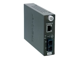 TRENDnet 10 100BaseTX to 100BaseFX Single-Mode Fiber Converter (30Km) with SC Type Connector, TFC-110S30, 4923312, Network Transceivers