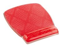 3M Clear Gel Mousepad and Wrist Rest, Coral Design