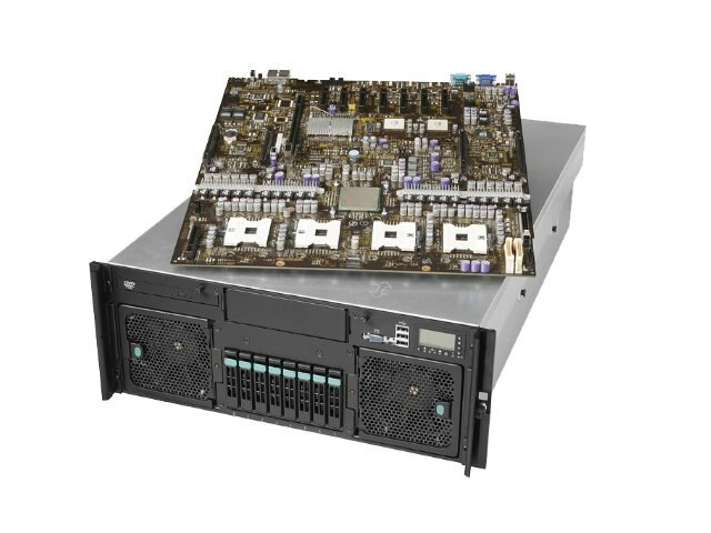 Intel S7000FC4UR Barebone 4-Socket, 4U Rack Optimized Server Supporting Intel Xeon QC 7300 DC 7200  RPS, SFC4UR, 7944362, Barebones Systems