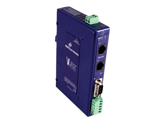Quatech Ethernet Serial Server, (1) Serial DB9 or TB, (2) 10 100 Ethernet RJ45, VESR921, 17898574, Network Adapters & NICs