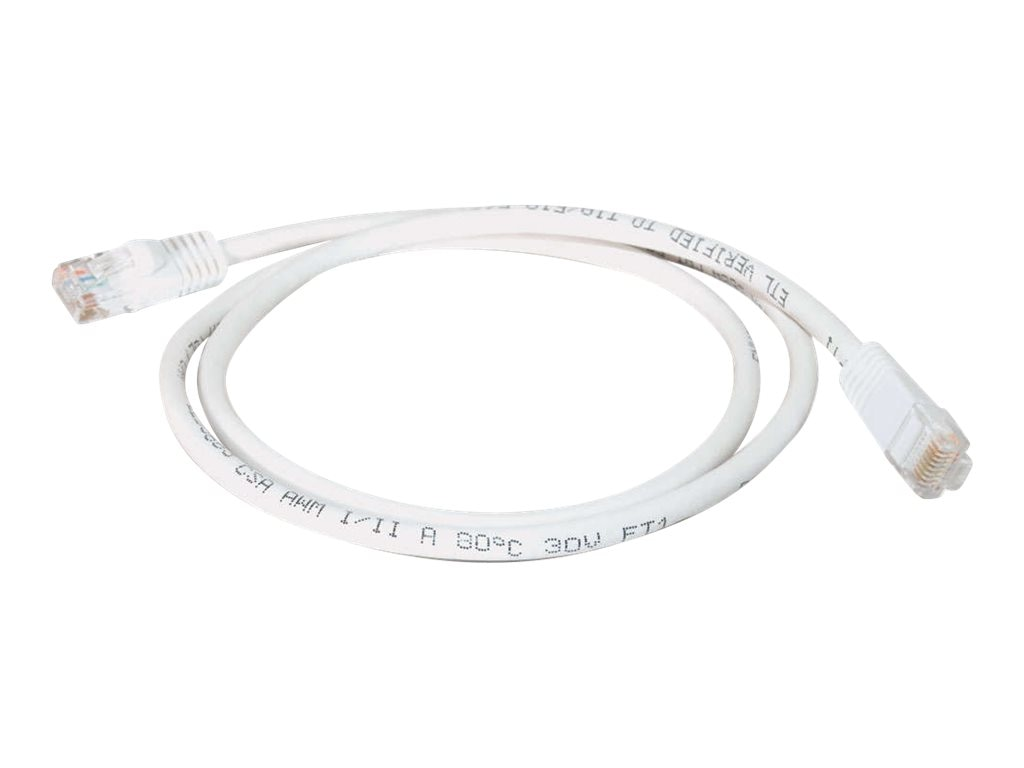 C2G Cat5e Snagless Unshielded (UTP) Network Patch Cable - White, 1ft, 29952, 5743680, Cables