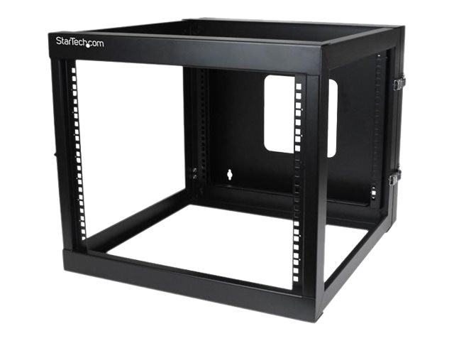 StarTech.com 8U x 22d Hinged Open Frame Wall Mount Server Rack, RK819WALLOH, 15063557, Racks & Cabinets