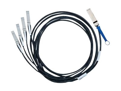 Mellanox 40GbE to 4x 10GbE QSFP to 4x SFP+ Passive Copper Hybrid Cable, 5m, MC2609125-005, 31540173, Cables