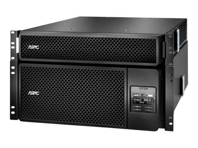 APC Smart-UPS SRT 6000VA RM with 208V to 120V 2U Step-Down Transformer, SRT6KRMXLT-5KTF, 30632623, Battery Backup/UPS