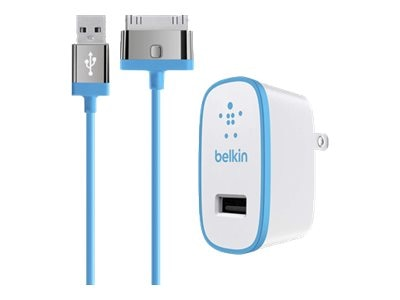 Belkin Home Charger for iPad, 10W 2.1A, 30-pin Cable, Blue, F8J141TT04-BLU