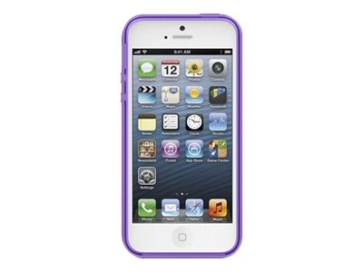 Belkin Grip Candy Sheer Case, Fountain Blue Purple for iPhone 5, F8W138TTC07, 14860870, Carrying Cases - Phones/PDAs
