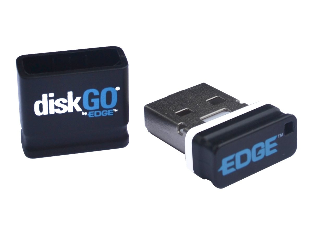 Edge 8GB DiskGO Micro USB Flash Drive, Black, PE237301, 16718172, Flash Drives