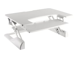 Ergotech 42w Freedom Height Adjustable Standing Desk, White, FDM-DESK-W-42, 33104797, Ergonomic Products