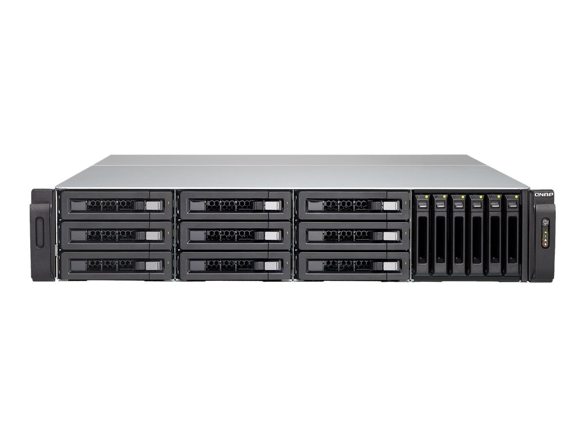 Qnap 15-Bay NAS & iSCS IPSAN SAS 12Gb s SAS SATA 6Gb s 4LAN 10G Storage w  Redundant Power Supplies, TVS-EC1580MUSASRP8GE
