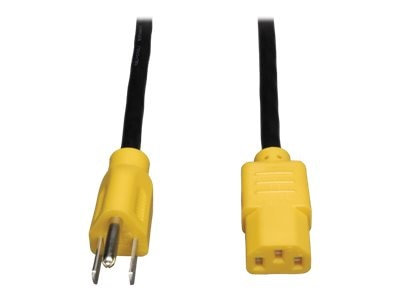 Tripp Lite Power Cord , 18AWG, NEMA 5-15P to C13, 4ft, Yellow, P006-004-YW