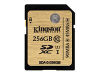 Kingston 256GB SDXC Flash Memory Card, Class 10, SDA10/256GB, 18034962, Memory - Flash