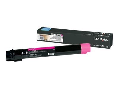 Lexmark Magenta Extra High Yield Toner Cartridge for X950de, X952dte & X954dhe Color Laser MFPs, X950X2MG, 12869846, Toner and Imaging Components