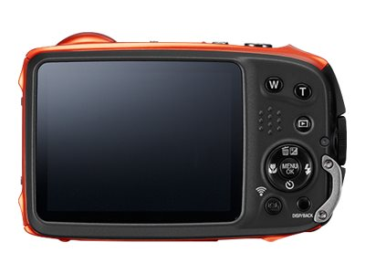 Fujifilm FinePix XP90 Waterproof WiFi Camera, 16.4MP, 5x Zoom, Orange, 16500337