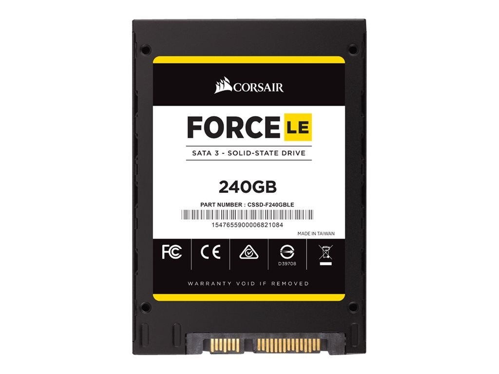 Corsair 240GB Force Series LE SATA 6Gb s Internal Solid State Drive, CSSD-F240GBLEB, 31070239, Solid State Drives - Internal