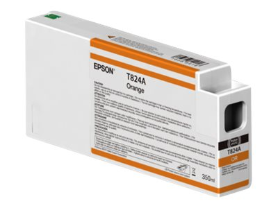 Epson Orange Ultrachrome HDX 350ml Ink Cartridge for SureColor P7000 & P9000 Printers, T824A00