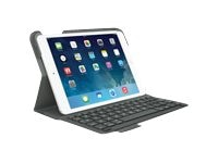 Logitech Ultrathin Keyboard Folio for iPad mini, Veil Gray, 920-006030, 16483553, Keyboards & Keypads