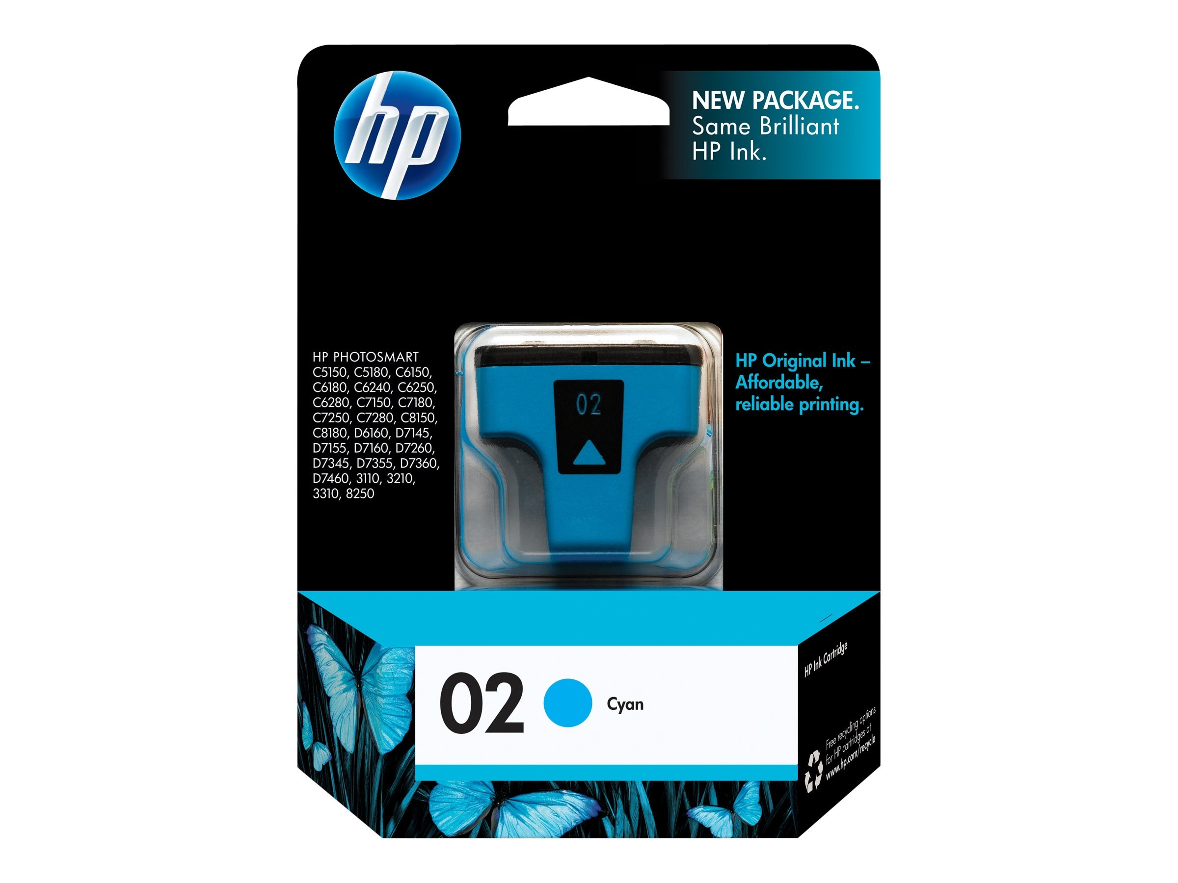 HP 02 (C8771WN) Cyan Original Ink Cartridge
