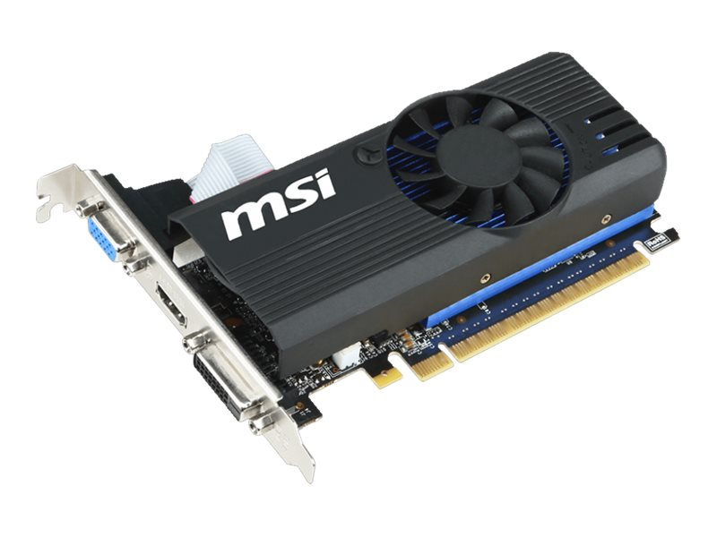 Microstar GeForce GT 730 PCIe 2.0 x16 Low-Profile Overclocked Graphics Card, 1GB GDDR5, N730K-1GD5LP/OC