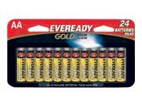 Energizer Eveready Gold Alkaline AA Value Pack (24-pack), A91BP24HT, 9627897, Batteries - Other