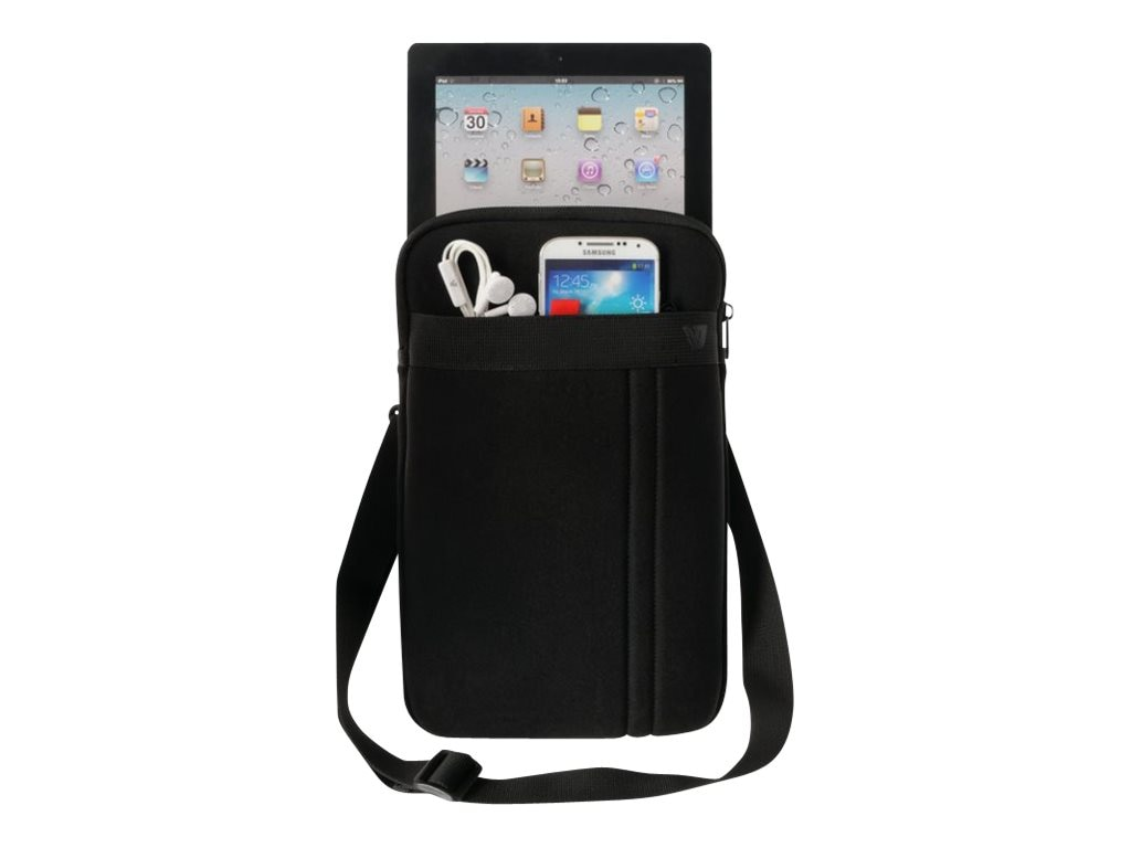 V7 Protective Sleeve w  Removable Strap for Ultrabooks Tablets Up to 12, CSS12BLK-1N, 17451908, Protective & Dust Covers