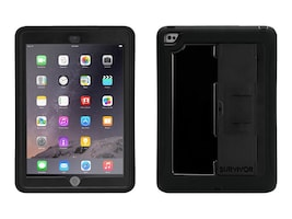 Griffin Survivor Slim for iPad Air 2, Black Black, GB40366, 18118015, Carrying Cases - Tablets & eReaders