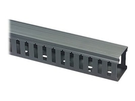 Black Box Slotted-Duct Raceway, 4h x 4w x 66, Black, RMT403A-R2, 11246330, Rack Cable Management