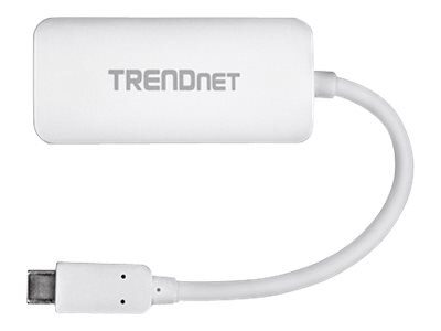 TRENDnet USB Type C (USB-C) to VGA HDTV M F Adapter, White, TUC-VGA