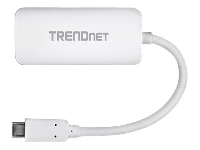 TRENDnet USB Type C (USB-C) to VGA HDTV M F Adapter, White